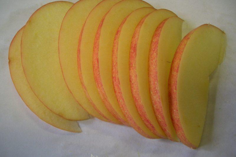 乾燥前リンゴ(スライス)