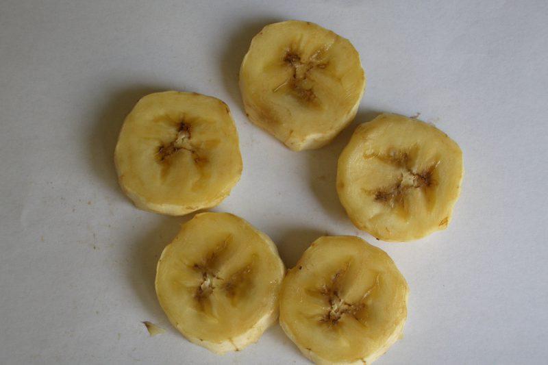 乾燥前 バナナ