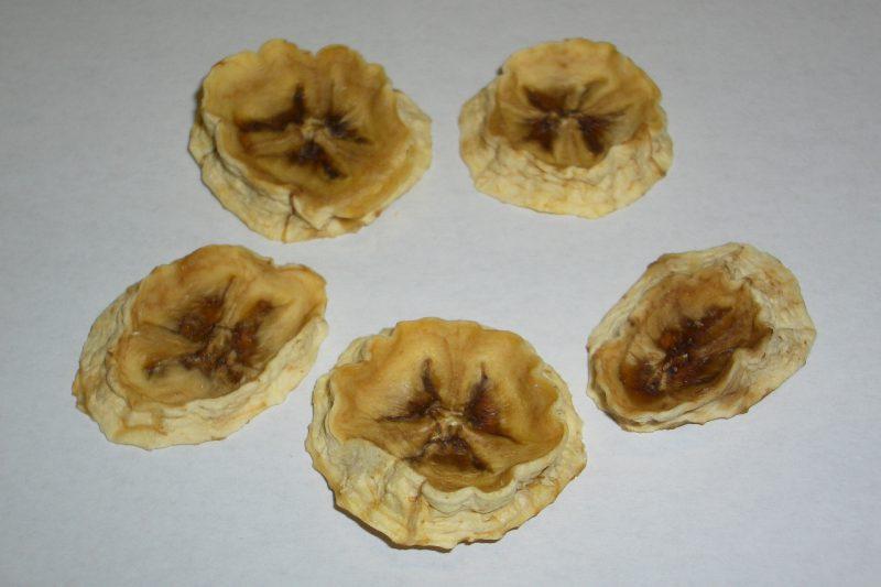乾燥後 バナナ